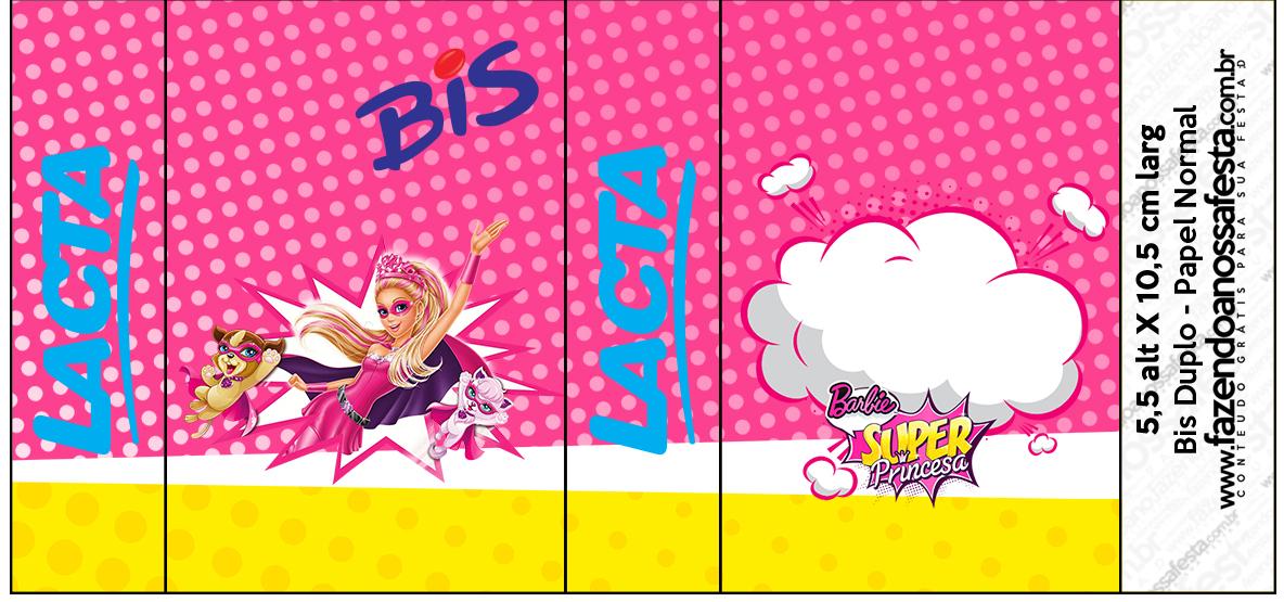 Rótulo Bis Barbie Super Princesa Rosa