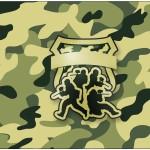 Rótulo Bolinha de Sabão Kit Militar Camuflado