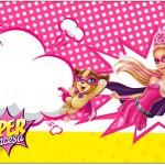 Rótulo Caixa Bombom Barbie Super Princesa Rosa