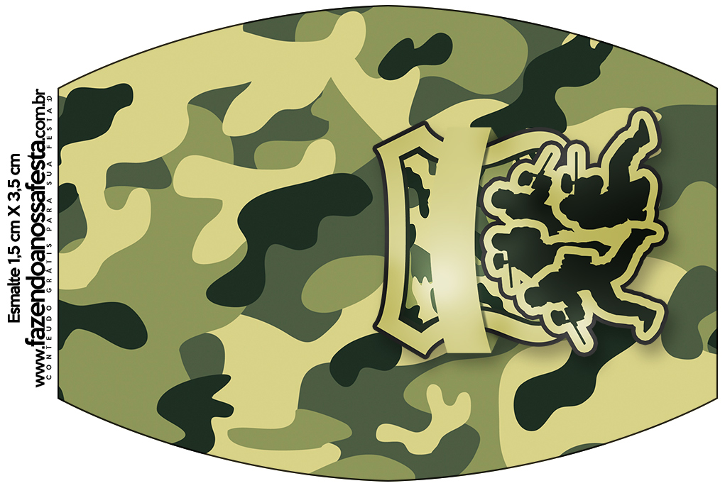 Rótulo Esmalte Kit Militar Camuflado