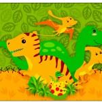 Rótulo Espumante Dinossauro Cute