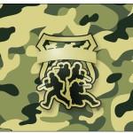 Rótulo Espumante, Vinho Kit Militar Camuflado