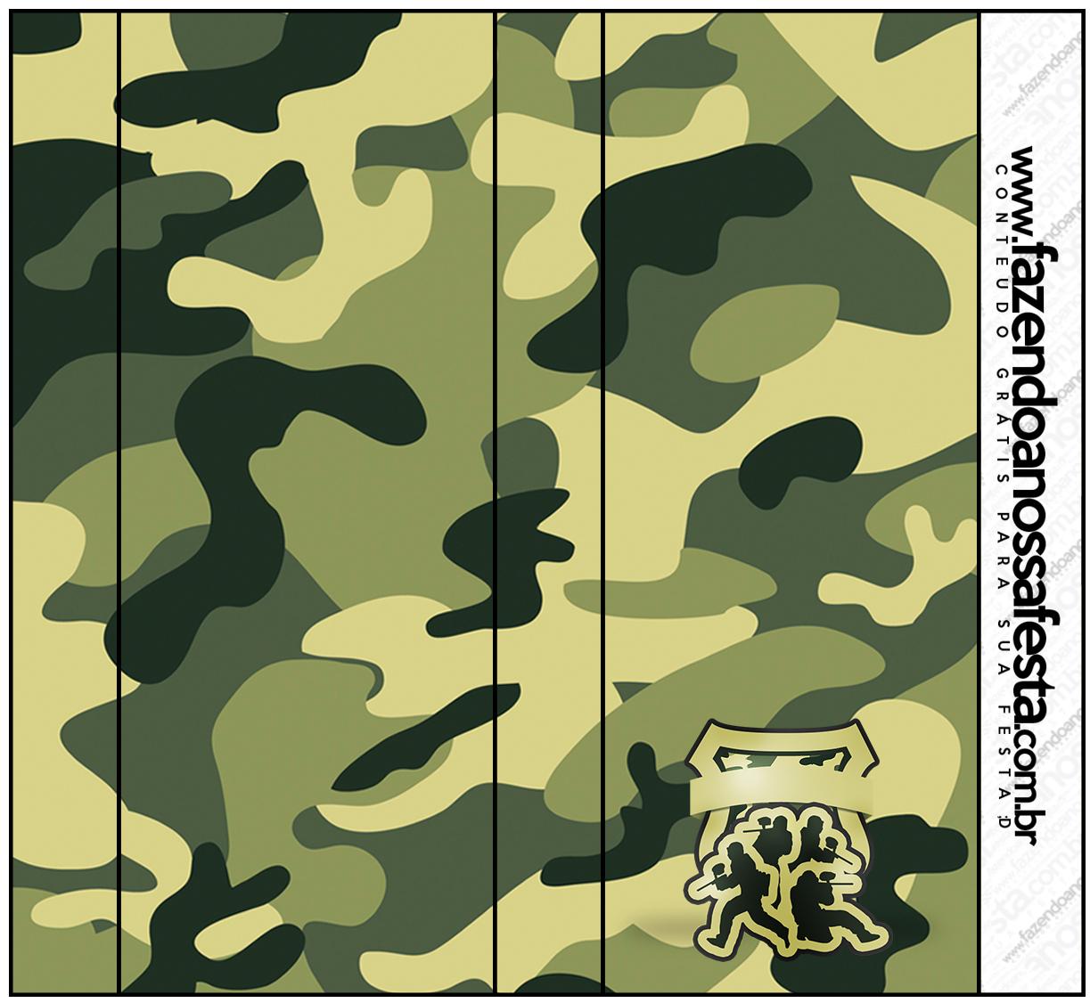 Rótulo Pirulito Mastigável Kit Militar Camuflado