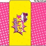 Rótulo Tic Tac Barbie Super Princesa Rosa