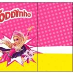 Rótulo Toddynho Barbie Super Princesa Rosa