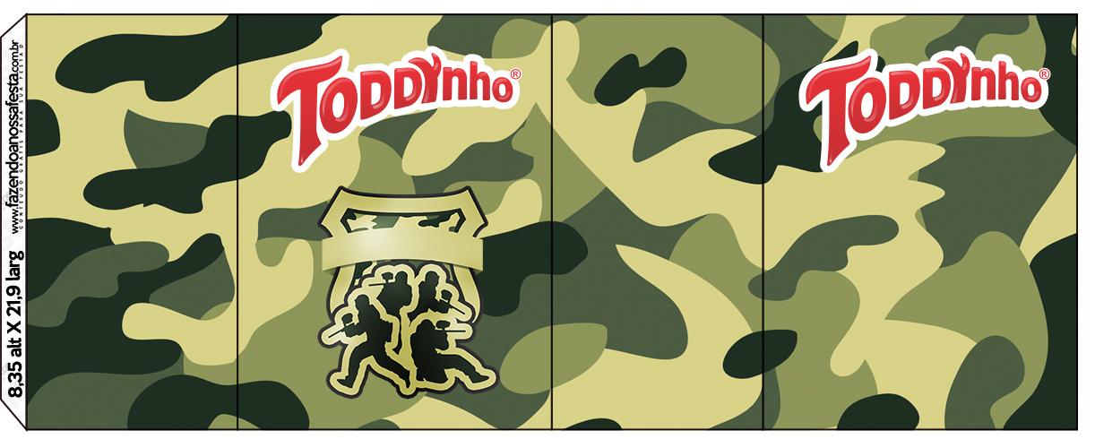 Rótulo Toddynho Kit Militar Camuflado