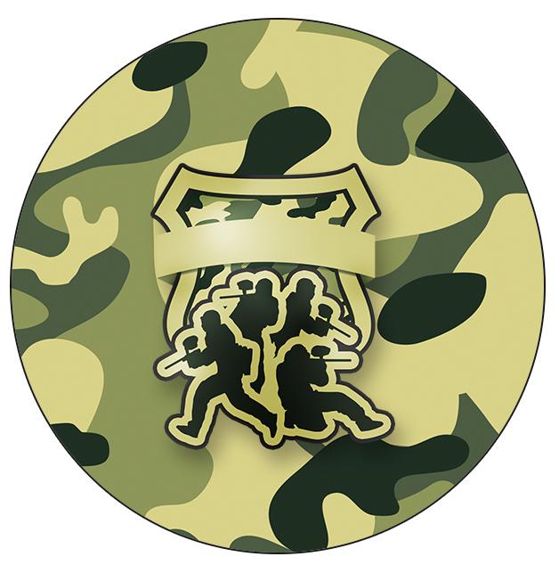 Rótulo Tubetes, Toppers e Latinhas Kit Militar Camuflado
