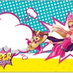 Rótulo para Caixa Bombom Barbie Super Princesa