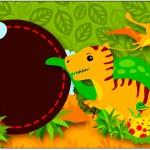 Rótulo para Caixa Bombom Dinossauro Cute