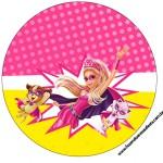 Rótulo para Tubetes Barbie Super Princesa Rosa