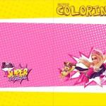 Revista Colorindo Barbie Super Princesa Rosa