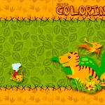 Revista Colorindo Dinossauro Cute