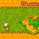 Revista Colorindo Dinossauro Cute