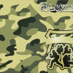 Revista Colorindo Kit Militar Camuflado
