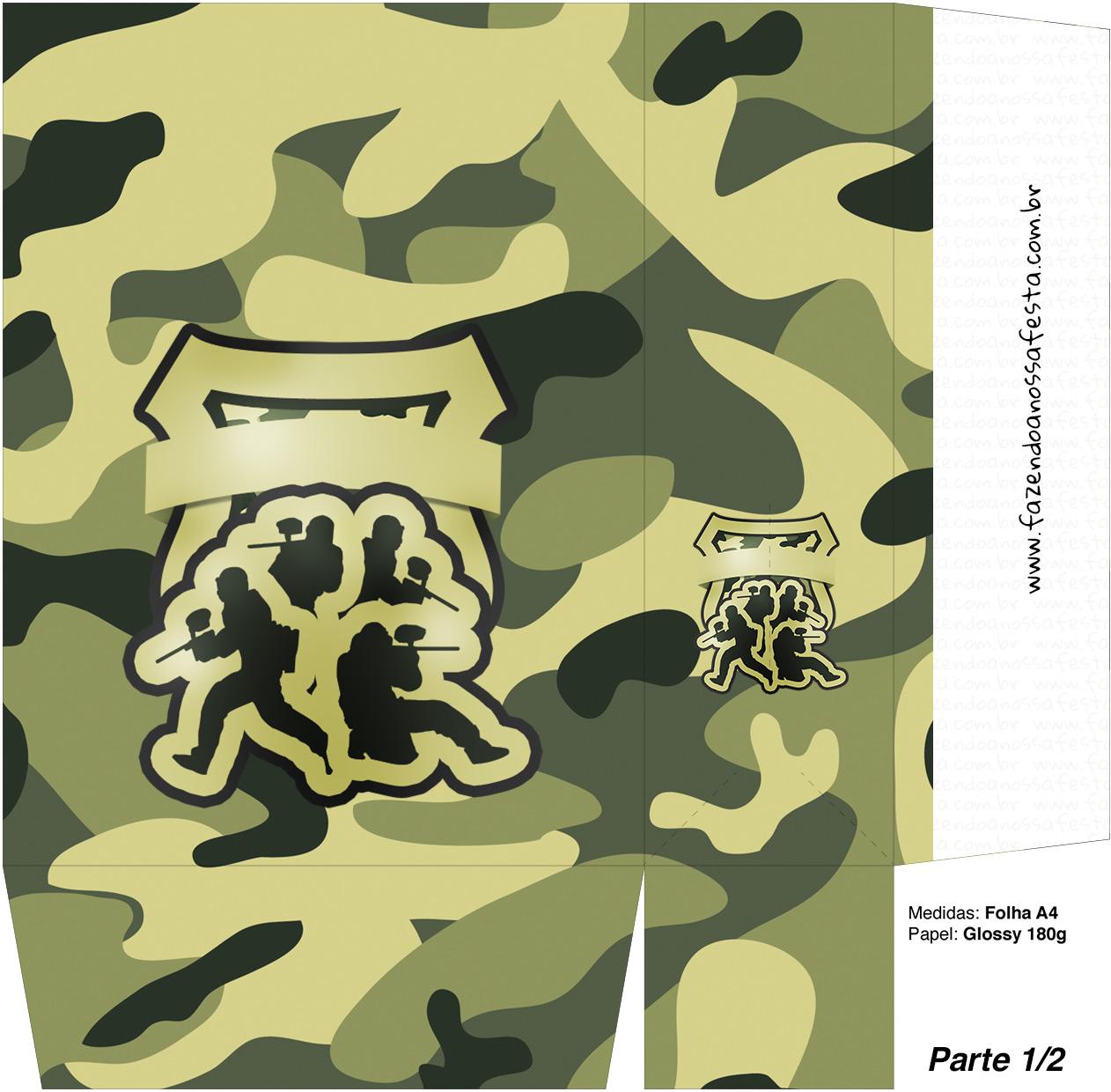 Sacolinha Surpresa Kit Militar Camuflado Parte 1