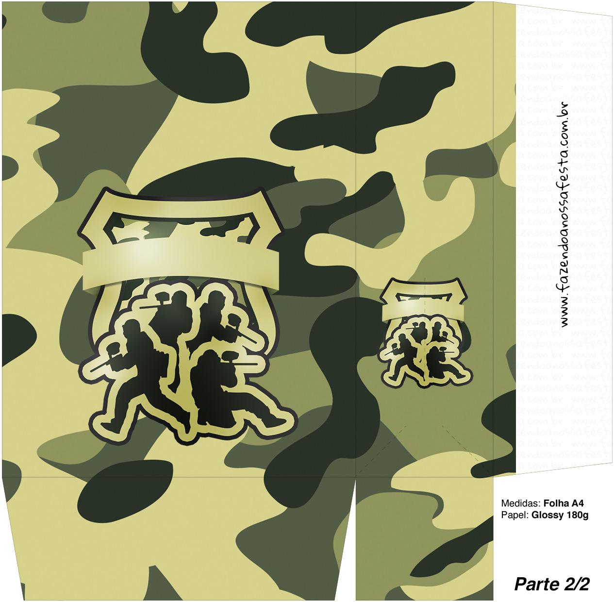 Sacolinha Surpresa Kit Militar Camuflado Parte 2