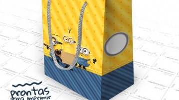 Sacolinha Surpresa Minions - Modelo