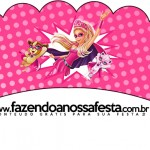 Saias Wrappers para Cupcakes 2 Barbie Super Princesa Rosa