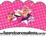 Saias Wrappers para Cupcakes 2 Barbie Super Princesa Rosa