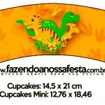 Saias Wrappers para Cupcakes 2 Dinossauro Cute