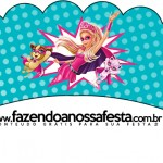 Saias Wrappers para Cupcakes Barbie Super Princesa