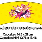 Saias Wrappers para Cupcakes Barbie Super Princesa Rosa