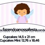 Saias Wrappers para Cupcakes Batizado Anjinha Afro