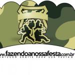 Saias Wrappers para Cupcakes Kit Militar Camuflado