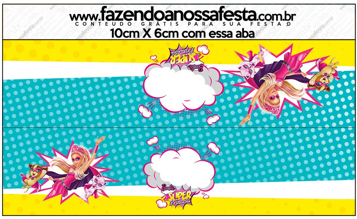 Saquinho de Balas Barbie Super Princesa