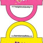 Saquinho de Balas Bolsinha Barbie Super Princesa Rosa
