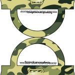 Saquinho de Balas Bolsinha Kit Militar Camuflado