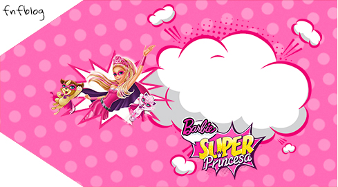 Tag Agradecimento 2 Barbie Super Princesa Rosa