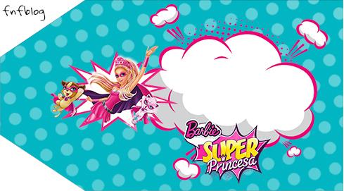 Tag Agradecimento 2 Barbie Super Princesa