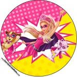 Toppers, Latinhas e Tubetes Barbie Super Princesa Rosa