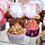 Toppers para Cupcakes Festa Gatinha Marie Anna Laura