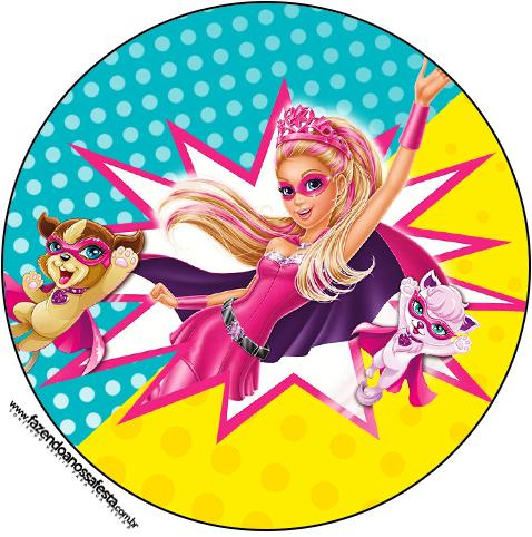 Toppers para Cupcakes e Docinhos Barbie Super Princesa