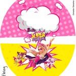 Tubete Oval Barbie Super Princesa Rosa