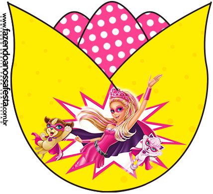 Tulipa Barbie Super Princesa Rosa