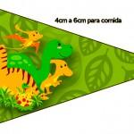 bandeirinha Sanduiche 3 Dinossauro Cute