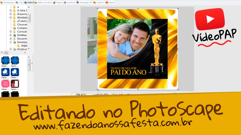 Como colocar a foto na caixa de bombom usando Photoscape