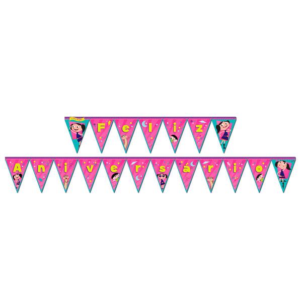 Bandeirinha Varalzinho Feliz Aniversário Show da Luna