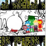 Bala Personalizada Kit Festa Vingadores Cute
