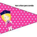 Bandeirinha Sanduiche 2 Menina Marinheira Loira