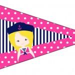 Bandeirinha Sanduiche 3 Menina Marinheira Loira