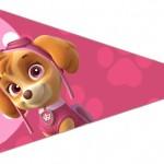 Bandeirinha Sanduiche 3 Patrulha Canina para Meninas