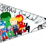 Bandeirinha Sanduiche 4 Kit Festa Vingadores Cute