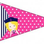 Bandeirinha Sanduiche 4 Menina Marinheira Loira