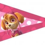Bandeirinha Sanduiche 4 Patrulha Canina para Meninas