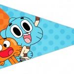 Bandeirinha Sanduiche 4 o Incrível Mundo de Gumball