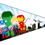 Bandeirinha Sanduiche 5 Kit Festa Vingadores Cute